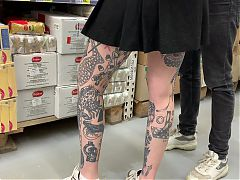 Upskirt young girl tatoo 3