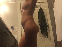 Hidden Cam. Hot Tattooed Milf in Bathroom