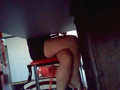 Hot legs under the table