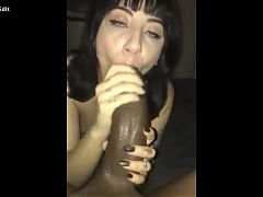Sucking big dick