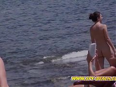 Hot Group Of Nudist Teens, Hidden Cam, Voyeur Beach Video