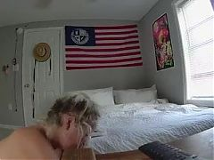 Spying on an amateur blonde fucking, changing and dressing