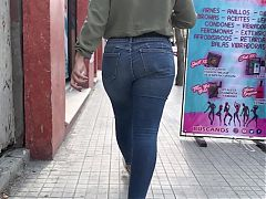 Another Big Ass Walking Jeans . Latina Brunette