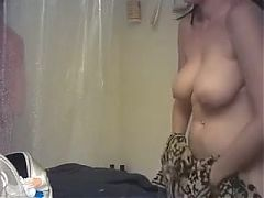2 girl naked and showering in bathroom together