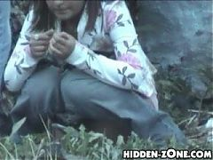 Young Russian Girl Gets Caught Peeing