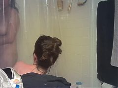 Two Girls Shower Together on Hidden Camera