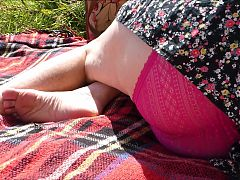 Wife Showing her Panties in the Park