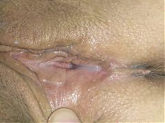Playing with real wife creampie
