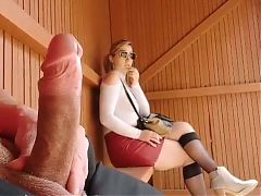 Unbelievable! This girls reaction when i pull out my cock!