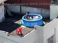 fucking in swimmingpool voyeur